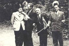 1950_Nachtag_vl._Helga_Koch,NN,__Ger._Baumeister_se._Helmut_Wethmar,