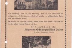 1952_Schützenfest-Einladung