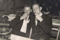 1957_Schützenfest_Josef_Rudde_und_Hermann_Terhörst