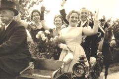 1960 v.l. Johannes Albers, Helga Koch, Marianne Koch, Cornelia Elbers, Josef Möllers, Clemens Kleideiter.bmp