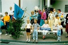 1986_Festumzug_Königstraße_Frank_Feimann_Bernd_und_Catherina_Feldkamp_Sandra_Leuker