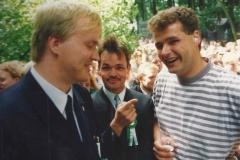 1992 Kontrahenten Thomas Volmer und Thomas Kockentiedt (Thomas Kockentiedt zeigt auf den zukünftigen König)